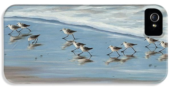 Sandpipers IPhone 5 / 5s Case by Tina Obrien