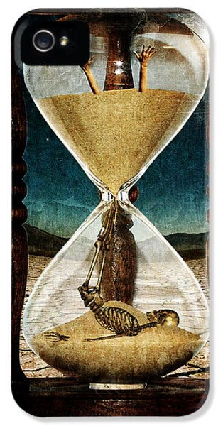 Clock iPhone 5 Cases - Sands of Time ... Memento Mori  iPhone 5 Case by Marian Voicu