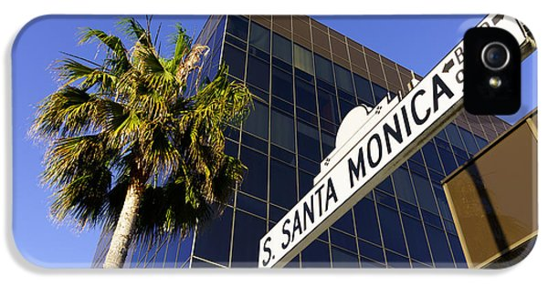 Santa Monica Blvd Sign In Beverly Hills California IPhone 5 / 5s Case by Paul Velgos