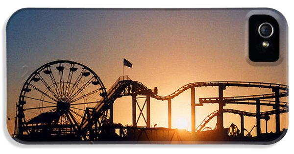 Santa Monica Pier IPhone 5 / 5s Case by Art Block Collections