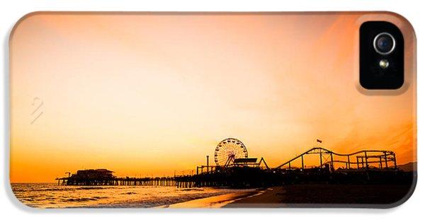 Santa Monica Pier Sunset Southern California IPhone 5 / 5s Case by Paul Velgos