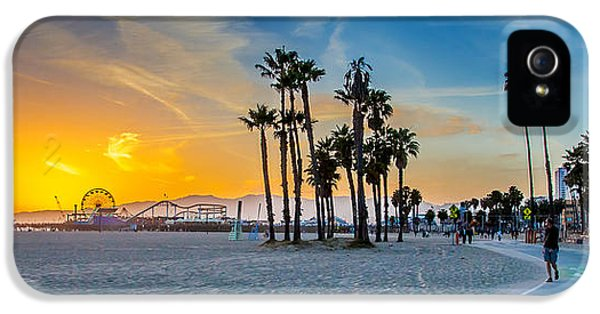 Drive iPhone 5 Cases - Santa Monica Sunset iPhone 5 Case by Az Jackson