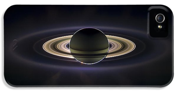 Solar System iPhone 5 Cases - Saturn iPhone 5 Case by Adam Romanowicz