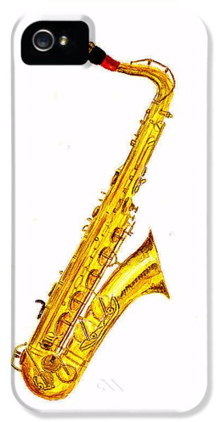 Saxophone IPhone 5 / 5s Case by Michael Vigliotti