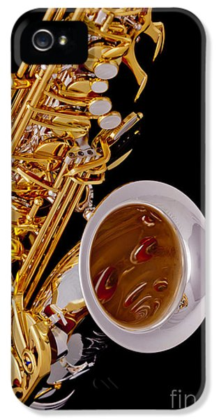Rock And Roll Photographs Pictures iPhone 5 Cases - Saxophone Music Instrument in Color 3266.02 iPhone 5 Case by M K  Miller