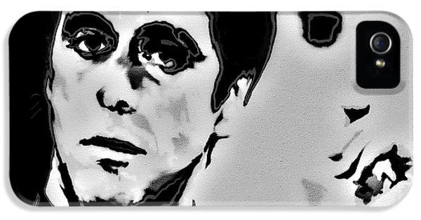 Brian De Palma iPhone 5 Cases - Scarface 4x iPhone 5 Case by Brian Reaves