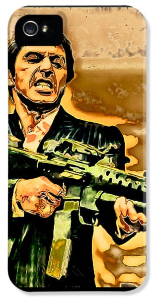 Say Hello To My Little Friend iPhone 5 Cases - Scarface iPhone 5 Case by Carlos Diaz