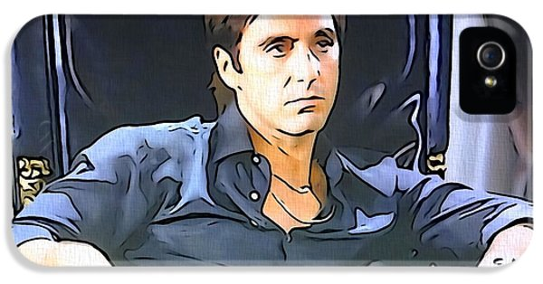 Oliver Stone iPhone 5 Cases - Scarface iPhone 5 Case by Dan Sproul