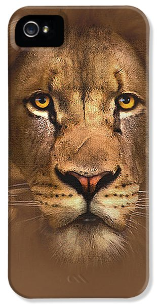 Lion iPhone 5 Cases - Scarface Lion iPhone 5 Case by Robert Foster