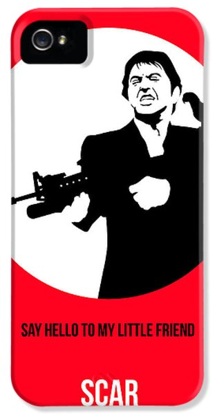 Scarface iPhone 5 Cases - Scarface Poster 2 iPhone 5 Case by Naxart Studio
