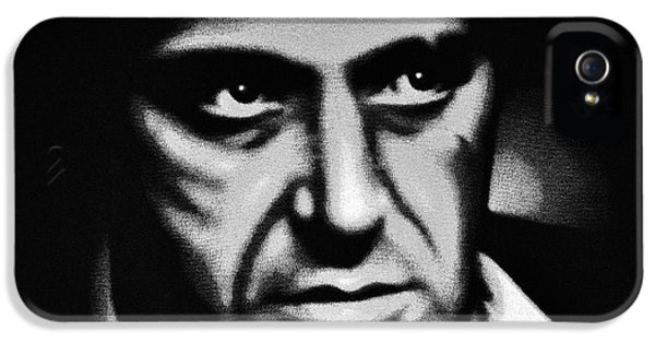 Tony Montana iPhone 5 Cases - Scarface Staredown iPhone 5 Case by Al Powell Photography USA