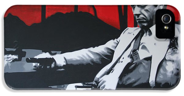American Crime Film iPhone 5 Cases - Scarface - Sunset 2013 iPhone 5 Case by Luis Ludzska