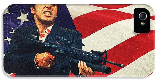 Oliver Stone iPhone 5 Cases - Scarface iPhone 5 Case by Taylan Soyturk