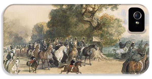 Scene In Hyde Park IPhone 5 / 5s Case by Eugene-Louis Lami