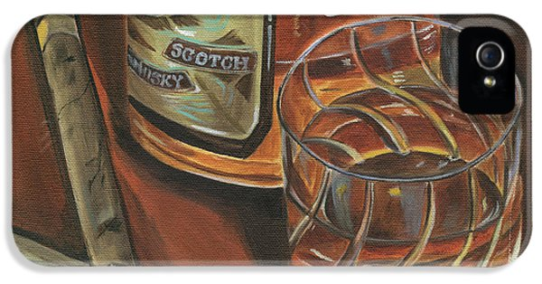 Smoke iPhone 5 Cases - Scotch and Cigars 3 iPhone 5 Case by Debbie DeWitt