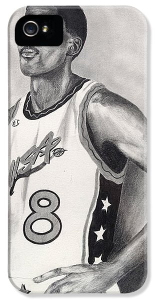 Pippen iPhone 5 Cases - Scottie Pippen iPhone 5 Case by Devin Millington