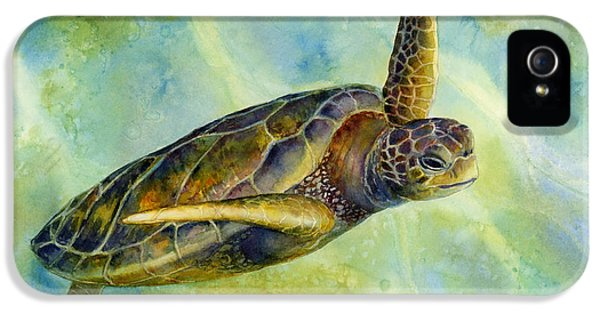 Underwater iPhone 5 Cases - Sea Turtle 2 iPhone 5 Case by Hailey E Herrera