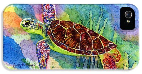 Sea Turtle IPhone 5 / 5s Case by Hailey E Herrera