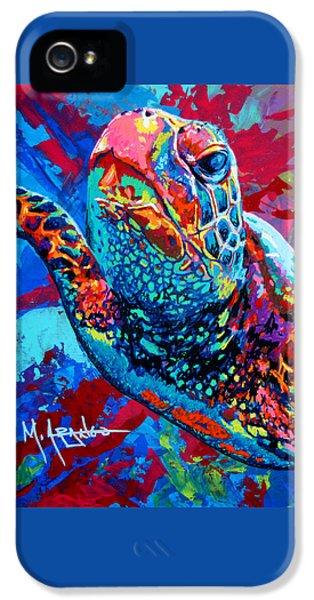 Shells iPhone 5 Cases - Sea Turtle iPhone 5 Case by Maria Arango