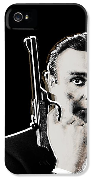 British Crime Film iPhone 5 Cases - Sean Connery James Bond Vertical iPhone 5 Case by Tony Rubino