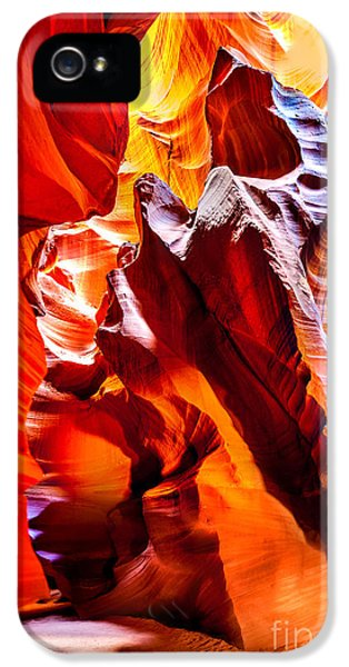 Swirls iPhone 5 Cases - Searching For The Sun iPhone 5 Case by Az Jackson