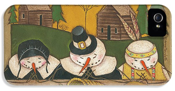 Seasonal Snowman Xi IPhone 5 / 5s Case by Anne Tavoletti