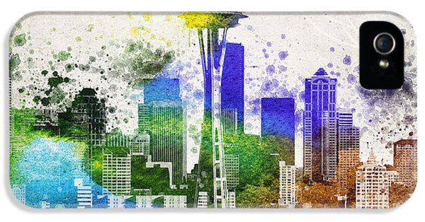 Seattle City Skyline IPhone 5 / 5s Case by Aged Pixel