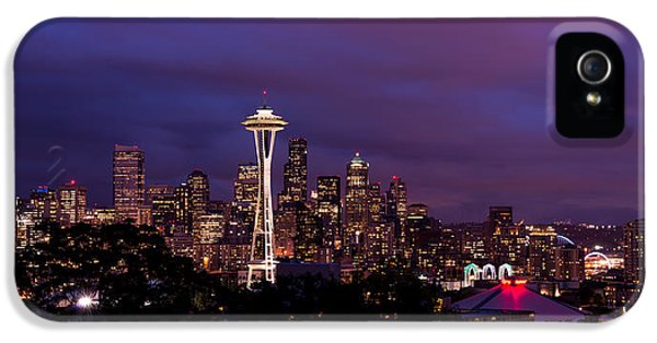 Pacific Northwest iPhone 5 Cases - Seattle Night iPhone 5 Case by Chad Dutson