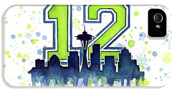 Seattle Seahawks 12th Man Art IPhone 5 / 5s Case by Olga Shvartsur