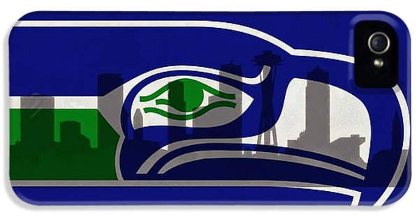 Seattle Seahawks On Seattle Skyline IPhone 5 / 5s Case by Dan Sproul