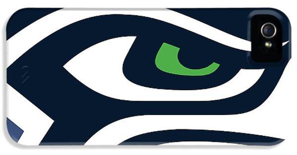Americana iPhone 5 Cases - Seattle Seahawks iPhone 5 Case by Tony Rubino