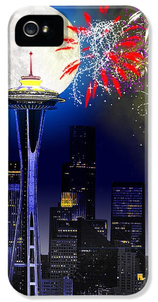 Seattle Skyline IPhone 5 / 5s Case by Methune Hively