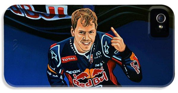 Pole Position iPhone 5 Cases - Sebastian Vettel iPhone 5 Case by Paul Meijering