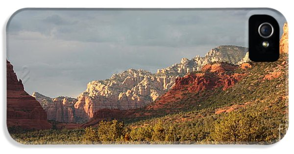 Deserted iPhone 5 Cases - Sedona Sunshine Panorama iPhone 5 Case by Carol Groenen