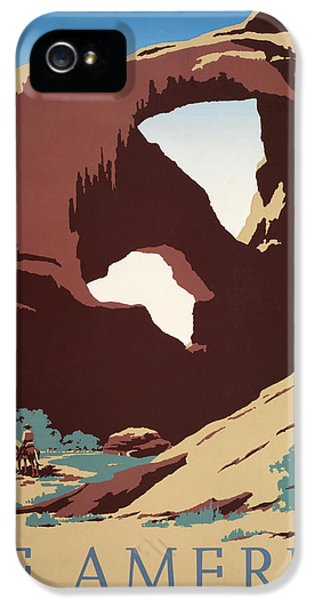 Deserted iPhone 5 Cases - See America - Cowboys iPhone 5 Case by Nomad Art And  Design