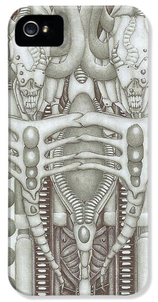 Bio-mechanical iPhone 5 Cases - See no evil hear no evil iPhone 5 Case by RJ Smuin
