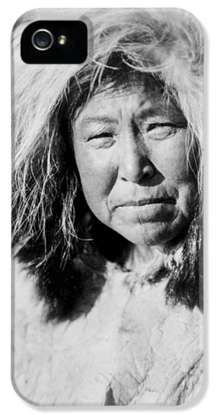 Native American Woman iPhone 5 Cases - Selawik indian Woman circa 1929 iPhone 5 Case by Aged Pixel
