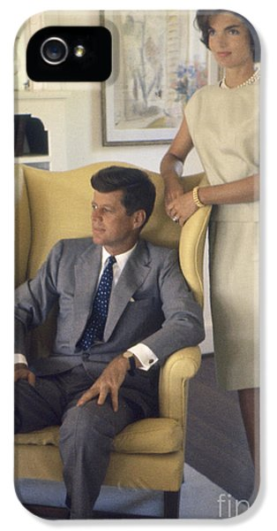 First Lady iPhone 5 Cases - Senator John F. Kennedy with Jacqueline 1959 iPhone 5 Case by The Phillip Harrington Collection