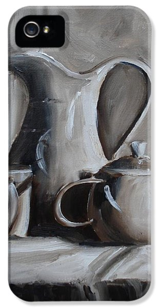 Burnt Umber iPhone 5 Cases - Sepia Still Life iPhone 5 Case by Donna Tuten