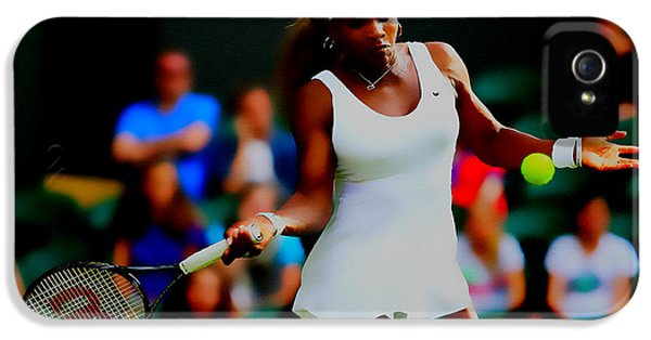 Serena Williams Making It Look Easy IPhone 5 / 5s Case by Brian Reaves