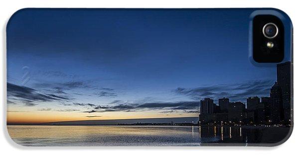 Michgan Avenue iPhone 5 Cases - Serene dawn scene in Chicago iPhone 5 Case by Sven Brogren