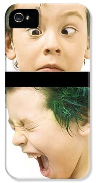 Boys Only iPhone 5 Cases - Series Of Portraits Of Boy With Green iPhone 5 Case by Chris and Kate Knorr