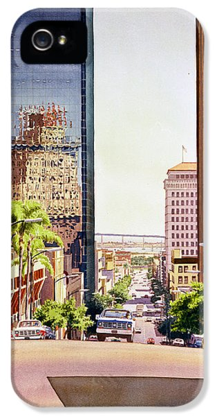 Aves iPhone 5 Cases - Seventh Avenue in San Diego iPhone 5 Case by Mary Helmreich