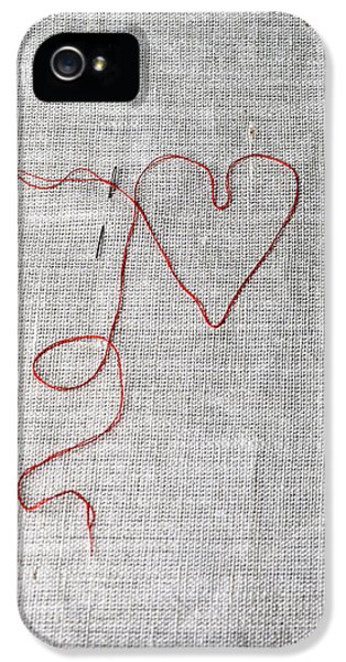 Stitch iPhone 5 Cases - Sewing A Heart iPhone 5 Case by Joana Kruse