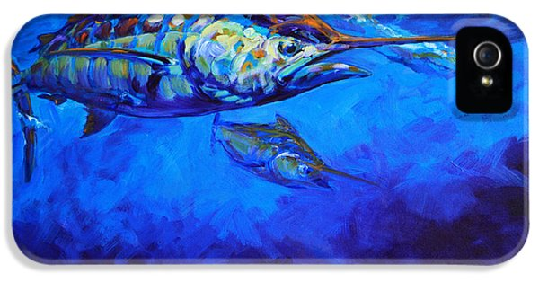 Fly iPhone 5 Cases - Shades of Blue iPhone 5 Case by Savlen Art