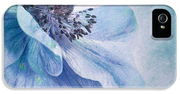 Pistil iPhone 5 Cases - Shades Of Blue iPhone 5 Case by Priska Wettstein