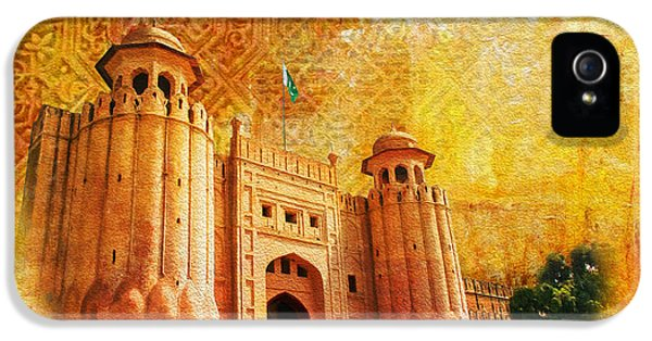 Pakistan iPhone 5 Cases - Shahi Qilla or Royal Fort iPhone 5 Case by Catf