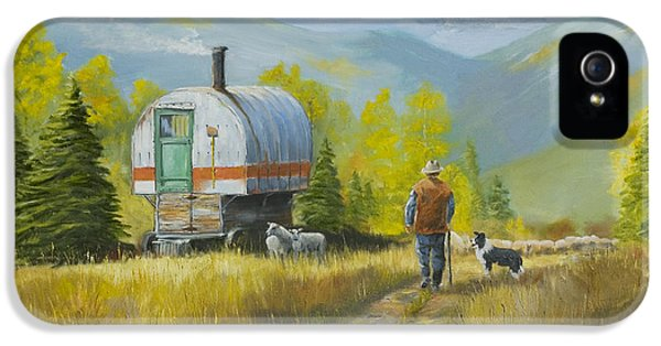 Ignacio iPhone 5 Cases - Sheep Camp iPhone 5 Case by Jerry McElroy