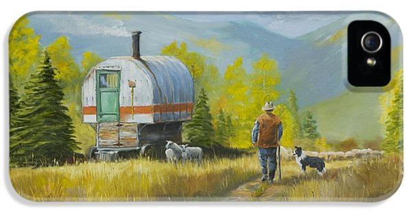 Sheep Camp IPhone 5 / 5s Case by Jerry McElroy