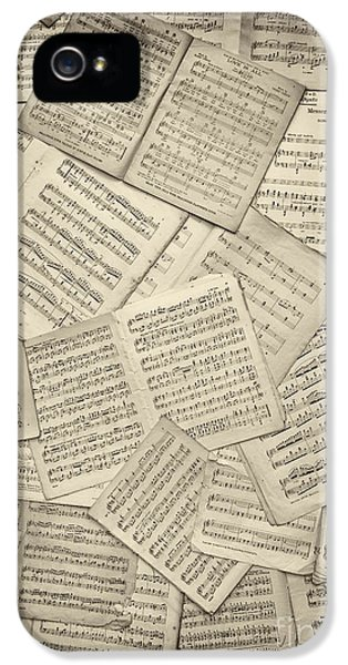 Classical iPhone 5 Cases - Sheet Music iPhone 5 Case by Tim Gainey
